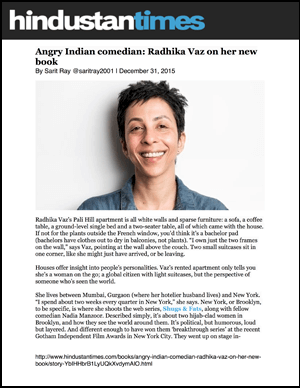 Angry Indian comedian Radhika Vaz on her new book