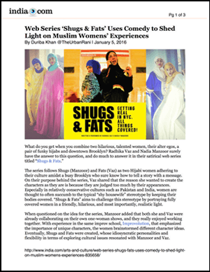 India - Web Series 'Shugs & Fats' Uses Comedy to Shed Light on Muslim Womens' Experiences